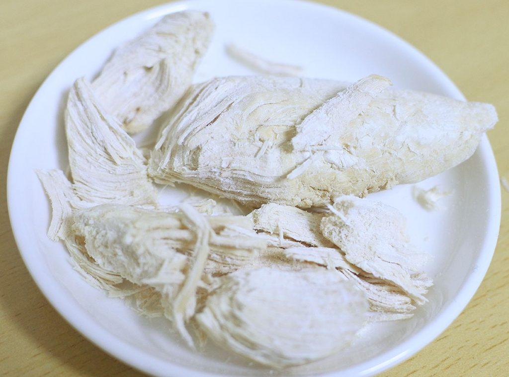 国産 手に持って食べられるカリカリひとつぶささみ丸型(リーフ)の拡大写真