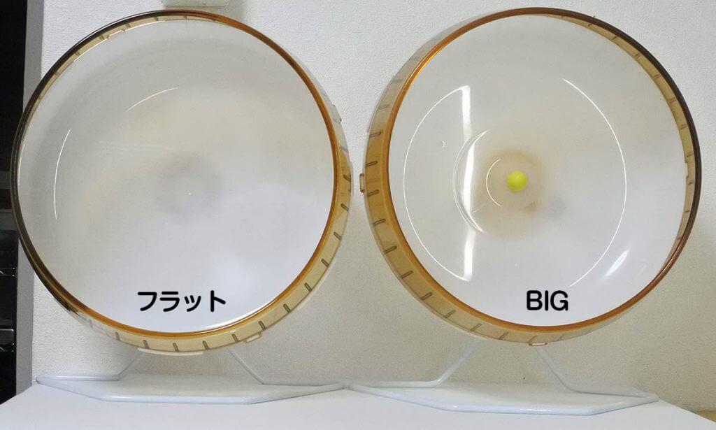 サイレントホイール フラット 30とサイレントホイールBIGの正面写真