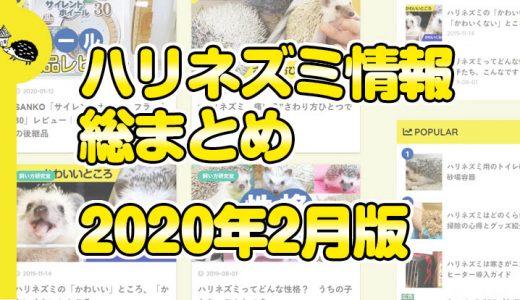 ハリネズミ情報総まとめ(2020年2月版)
