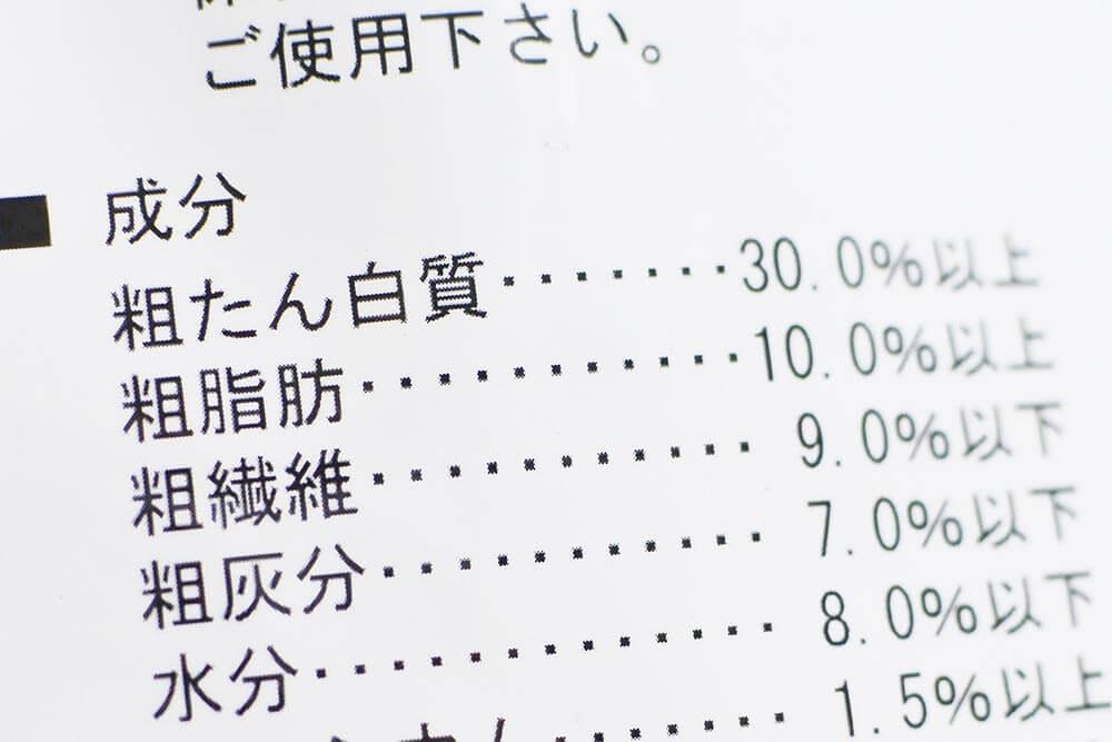 三晃商会ハリネズミフードの成分表