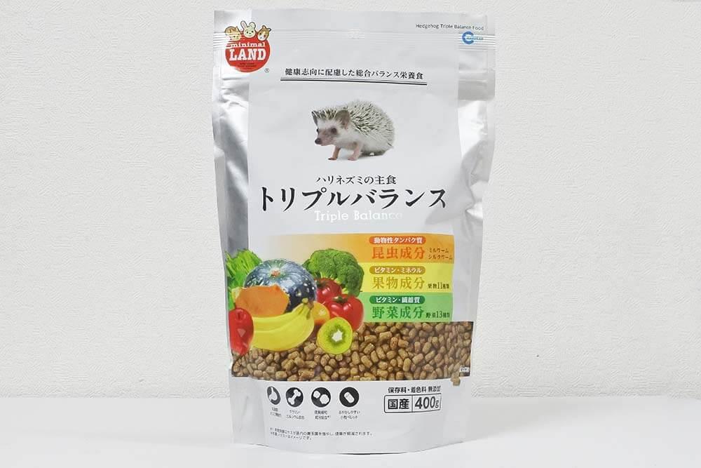 ハリネズミの主食 トリプルバランスのパッケージ